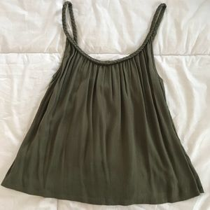 Topshop green tank top - Size 0